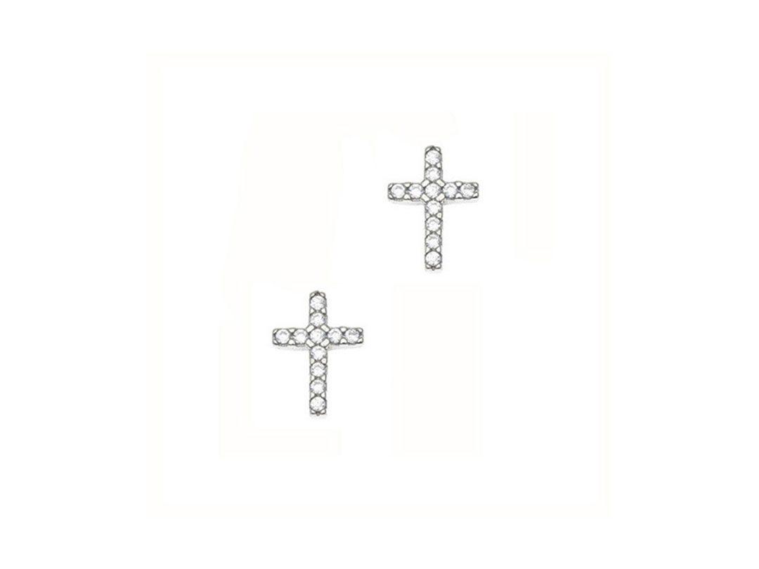212c460fe Strieborné náušnice v tvare krížika | ŠIK in the CITY